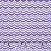 Rainy Day - Floating Stripe Pouring Purple Yardage