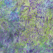 Enchanted Forest Batiks - WIldflower Parakeet Yardage