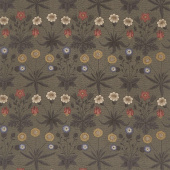 Best of Morris Fall - Daisy 1865-1875 Ebony Yardage