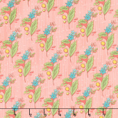 Bubbie's Buttons and Blooms - Grandma Olive's Nosegay Salmon Yardage