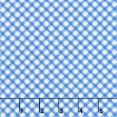 Just Lemons - Diagonal Plaid Blue Yardage