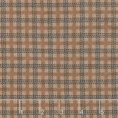 Farmhouse Flannels II - Country Check Toast Yardage