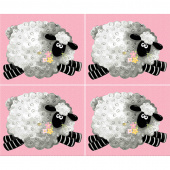 Mama Lal - Sheep Pink Panel
