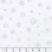Artisan Batiks - Snowflakes 2 Snowflakes Ice Metallic Yardage