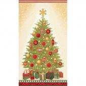 Winter's Grandeur 6 - Holiday Christmas Tree Holiday Metallic Panel