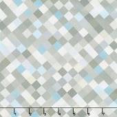 """Hopscotch - Squares Light Grey Digitally Printed 108"""" Wide Backing"""