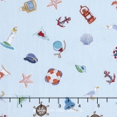 Marina - Icon Scatter Blue Yardage