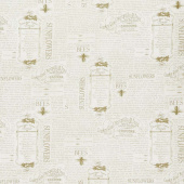 Country Road Market - Vintage Words Tan Yardage