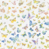 Butterfly Haven - Butterflies Allover Gray Yardage
