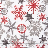 "Cuddle Prints - Ice Crystals Scarlet 60"" Minky Yardage"