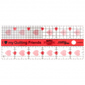 "Creative Grids™ I Love My Quilt Friends Mini Quilt Ruler - 2 1/2"" x 6"""