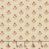 Buttermilk Basics - Flowers and Vines Tan Yardage