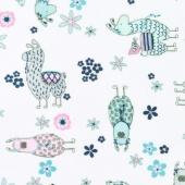 "Cuddle Prints - No-Prob Llama Blush 60"" Minky Yardage"