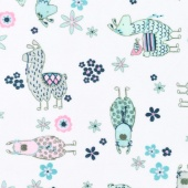 "Cuddle Prints - No-Prob Llama Blush 60"" Minky Yardage"