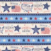 America, My Home - Repeating Stripe Multi Yardage