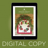 Digital Download - Dresden Wreath Wall Hanging Pattern by MSQC