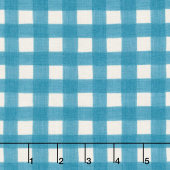 Happy Fall - Fall Gingham Farmhouse Aqua Yardage