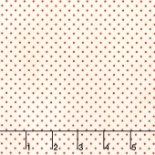 Swiss Dot - Swiss Dot Small Red on Cream Yardage