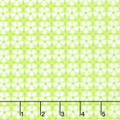 Confetti - Flower Grid Green Yardage