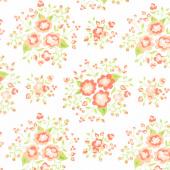 Apricot & Ash - Rose Garden Cloud Yardage