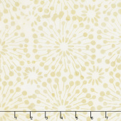 Cream of the Crop Batiks - Dandelion Burst Light Tan Yardage