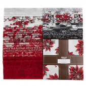 Holiday Flourish 12 Scarlet Metallic Ten Squares