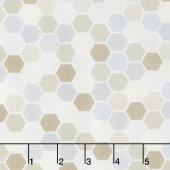 Make Yourself at Home - Mini Hexagons Taupe Gray Yardage