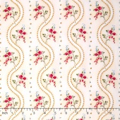 Juliette - Wave Cream Yardage