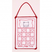Redwork Naptime Kitty Hanger Kit