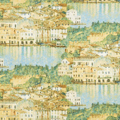 Gustav Klimt - Garda Lake Metallic Yardage