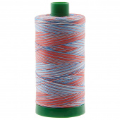 Aurifil 40 WT Cotton Mako Large Spool Thread Variegated Patriotic