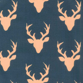 Woodlands - Fusions Buck Forest Navy Yardage