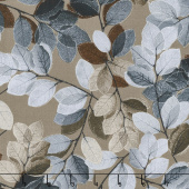 Essence of Pearl - Purple Sheer Leaves Brown Yardage