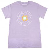 Missouri Star Circle Logo Round Neck Orchid T-Shirt - 4XL