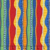 Dino Parade - Geo Stripe Multi Yardage