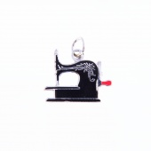 Antique Sewing Machine Charm by Pin Peddlers