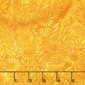 Moroccan Bazaar Batiks - Flower Field Gold Yardage