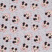 Disney - Mickey Traditional Confetti Party Gray Yardage
