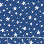 Brave & Free - Stars & Stripes Royal Yardage