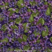 Arabella - Packed Violets Dark Purple Yardage