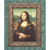 Leonardo Da Vinci - Mona Lisa Painting Antique Digitally Printed Panel