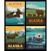 Destinations - Alaska Wildlife Pillow Multi Digitally Printed Panel
