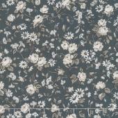 Serenity - Viney Roses Gray Yardage