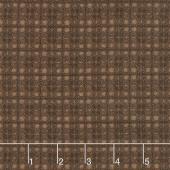 Woolies Flannel - Plaid Brown Yardage