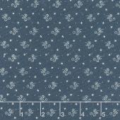 Indigo Gatherings - Flower Scroll American Yardage
