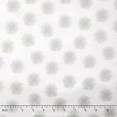 Nature's Pearl - Floating Dandelion Putty/Taupe Pearlized Yardage