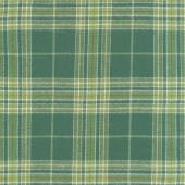 Primo Plaids - Lumber Jacks Large Plaid Green Flannel Yardage