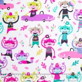 I Spy - Monkey Moves Pink Yardage