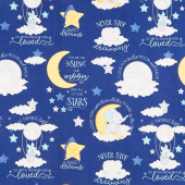 All Our Stars - Large Allover Navy Yardage