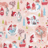 Little Red in the Woods - Main Pink Yardage